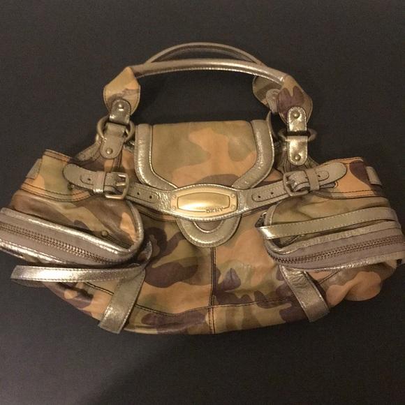 9b5c0bea6e DKNYC Handbags - DKNY Limited Edition Camo Print Leather Bag Large